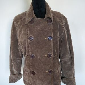 Brown Corduroy Double Breasted Jacket